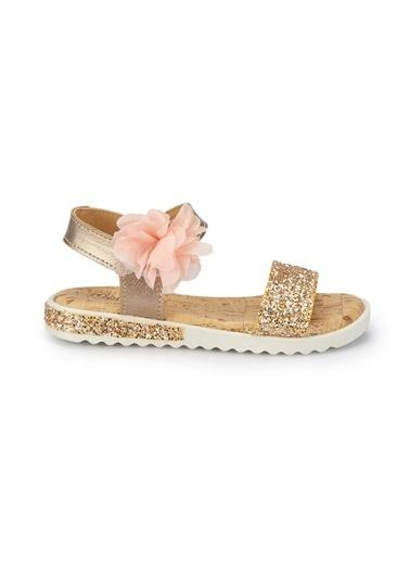 Pink Step Sandalet Altın